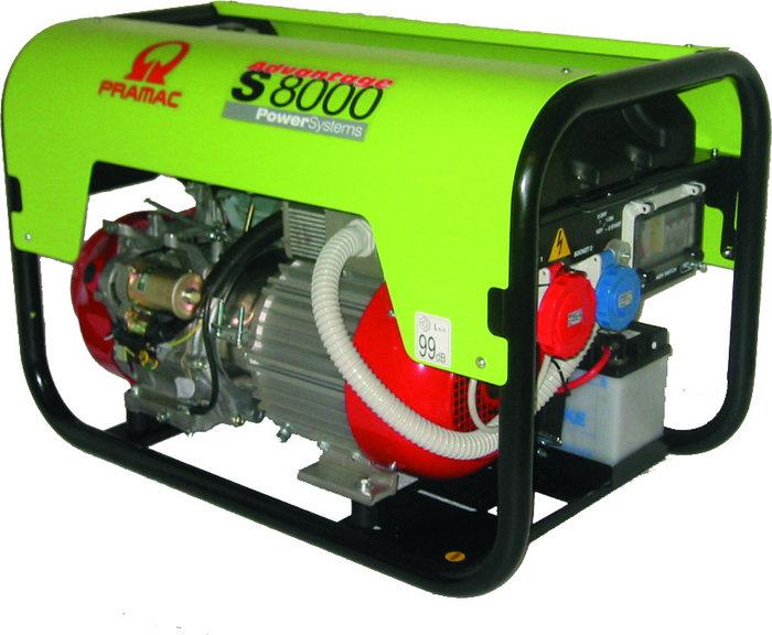 Stromerzeuger:                     Pramac - SP8000 PD682THI (230V/400V)