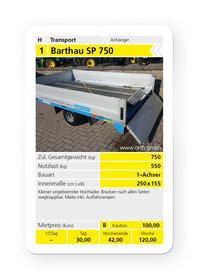 Mieten  Ungebremst: Barthau - SP 750 (mieten)