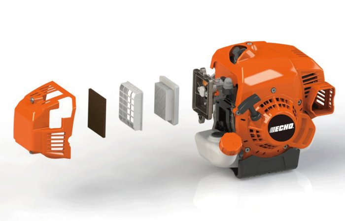 2-Stufen-Luftfilter System -  Das professionelle 2-Stufen Luftfilter System garantiert eine deutlich höhere Standzeit.