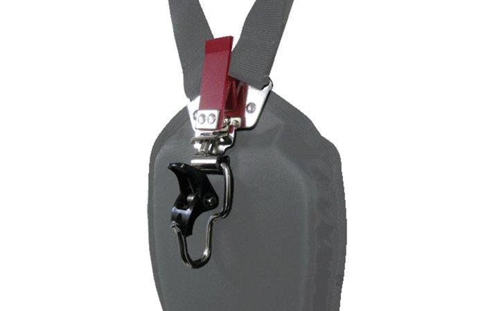 neues Tragegurteinhängesystem -  Das neue Tragegurteinhängesystem, garantiert ein einfaches einhängen der Motorsense.
