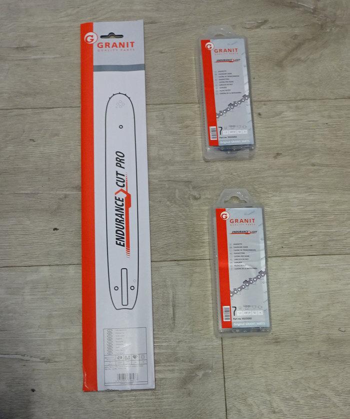 Motorsägen:                     Sägeketten + Schienen - STIHL AKTION 1 Schiene 30cm + 2 Ketten p.f. STIHL