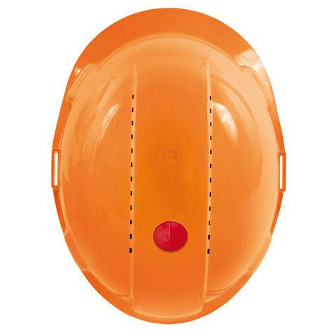 UV-Indikator  Der Indikator ist in Form einer kleinen Uhr im Helm integriert. Neu noch komplett rot, verblasst die Farbe während der Tragzeit des Helms kontinuierlich. Ist der UV-Indikator weiß, muss der Helm ersetzt werden.