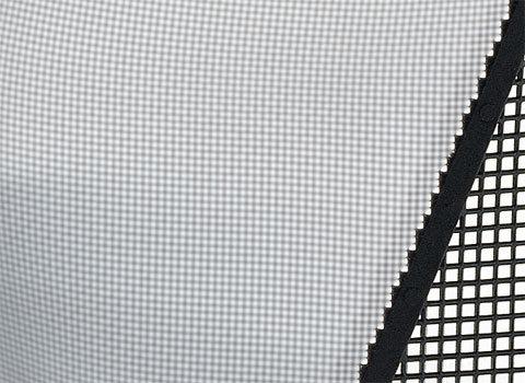 Federstahlgitter  Mit Abstand die höchsten Lichtdurchlasswerte. Sehr robustes Gitter, wabenförmige Struktur. Weniger optische Irritationen. Rostfreies Federstahlmaterial. Bitte beachten Sie: Der Gesichtsschutz kann den Augenschutz (Schutzbrille) nicht ersetzen.