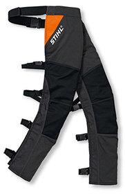 Schutzhosen: Stihl - STIHL Ringsum-Beinschutz mit Schnittschutz, Grün - Zum Tragen über der normalen Hose