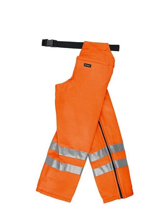 Schutzhosen:                     Stihl - STIHL Ringsum-Beinschutz mit Schnittschutz, Orange - Zum Tragen über der normalen Hose