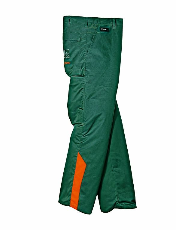 Schutzhosen:                     Stihl - STIHL STANDARD Bundhose, grün/warnorange - Bewährte Qualität seit vielen Jahren