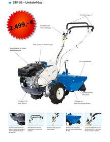 """Gebrauchte  Bodenfräsen: Meccanica Benassi - MF 225 HondaOHV PRO 200 cm³ Profi""""T"""" Einachser STARK mit XXTraVorteil Ausstellungsgerät * NICHT * (gebraucht)"""