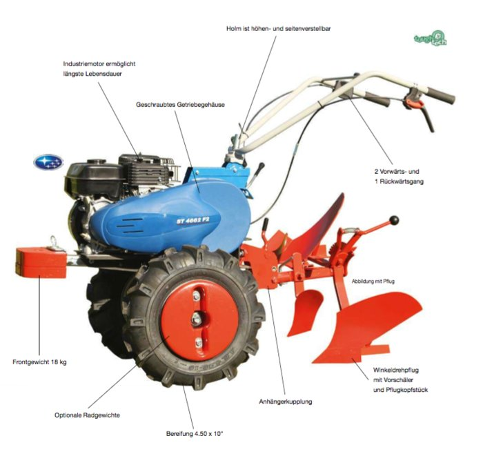 Motorhacken:                     Bertolini - ST 4662 F – Motorhacke mit 80 cm Hacksatz