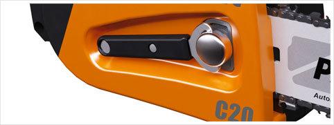 Dieser Schlüssel dient zum komfortablen Nachspannen der Kette und zum schnellen Zugriff auf das Ritzel und die Kette.