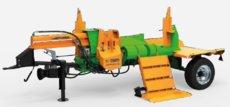 Holzspalter: Posch - SplitMaster 30 TURBO auf Längsfahrwerk PZG