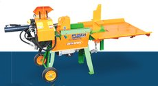 Holzspalter: Posch - SplitMaster 30 auf Längsfahrwerk PZG-E15D
