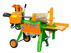 Holzspalter: Posch - SplitMaster 26 auf Längsfahrwerk  PZG-E7,5 D Speed