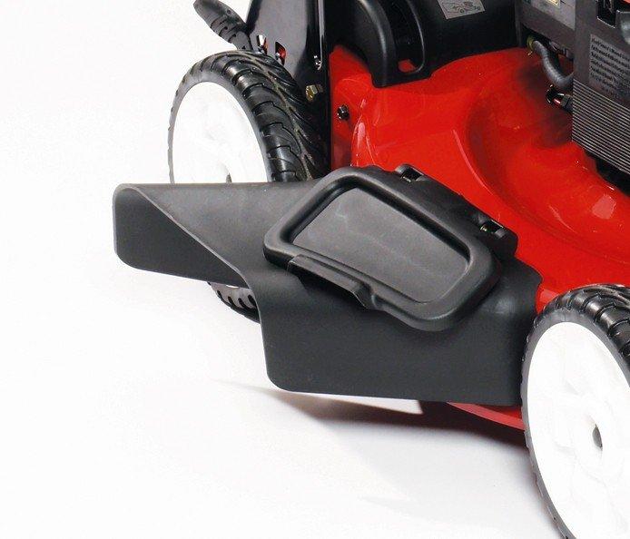 Heckfangsystem und Seitenauswurfkanal: Die Produktlinie der Recycler® Rasenmähwer von Toro mit Stahlmähwerk haben einen Heckfangkorb und einen Seitenauswerfer.