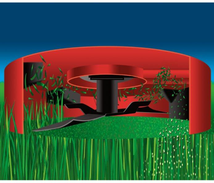 Patentiertes Toro® Recycler® Mähsystem  Recyclen: Gut für den Rasen und gut für die Umwelt. Das patentierte Design der Schnittkammer und des Messers zerkleinert das Schnittgut mehrmals und führt es dann der Rasenfläche wieder zu. Das Schnittgut kompostiert schnell und führt dem Boden Nährstoffe und Feuchtigkeit zu. Recyclen von Schnittgut oder Mulchen, wie es auch genannt wird, statt Sammeln des Schnittguts spart Zeit, Geld und Aufwand und ist umweltfreundlich.