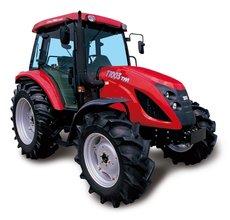 Kompakttraktoren: TYM - Winterdienst Traktor TS 25 HST mit Kabine, Schneeschild + Streuer