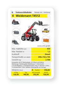 Mieten Teleskoplader: Weidemann - T4512 Telelader (mieten)