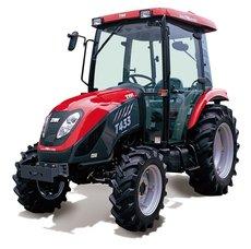 Kommunaltraktoren: Tym - Winterdienst Traktor T 503 HST mit Kabine, Räumschild, Streuer