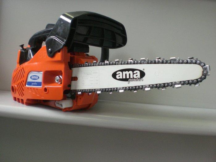 Gebrauchte                                          Motorsägen:                     Ama - TH 25.10 Top-Handle Motorsäge - Neumaschine & nicht (gebraucht)