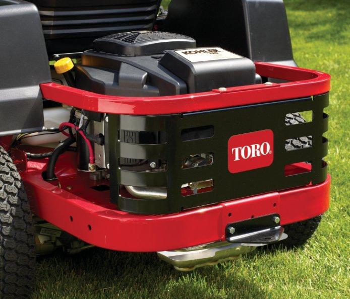 Motorschutzblech: Dieses Schutzblech schützt den Motor an den Seiten und hinten vor Objekten, die den Motor beschädigen könnten.
