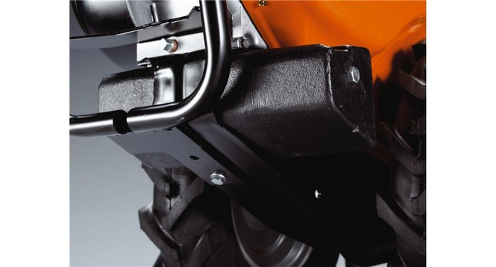 Gegengewicht Erhöht das Gewicht auf den Rädern und sorgt für eine verbesserte Balance.