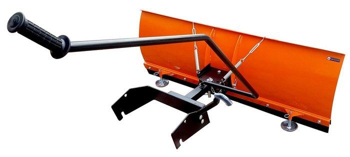 Schnellanbau - supereinfach + ruckzuck +++ Sicherheits-Federklapp-Schneeräumschild: Damit ganz sicher nichts passieren kann !!! Elegant-leicht-einfache und ergonomisch perfekte Aushebung bequem vom Sitz