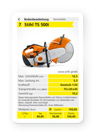 Mieten  Trennschleifer: Stihl - TS 500i (mieten)
