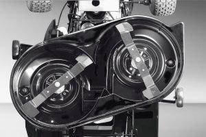 Mäherdeck  Kugelgelagertes, vibrationsgedämpftes Mähdeck. Bei einigen Modellen auch optional auf Mulchfunktion umrüstbar.