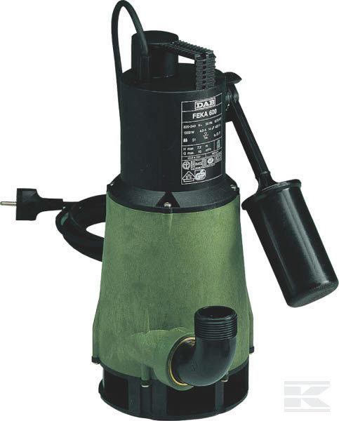 Schmutzwasserpumpen:                     DAB - Tauchpumpe Feka 600 A