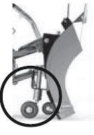 Laufräder für Räumschild - für empfindliche Flächen, höhenverstellbar Preis: 84,00 EUR