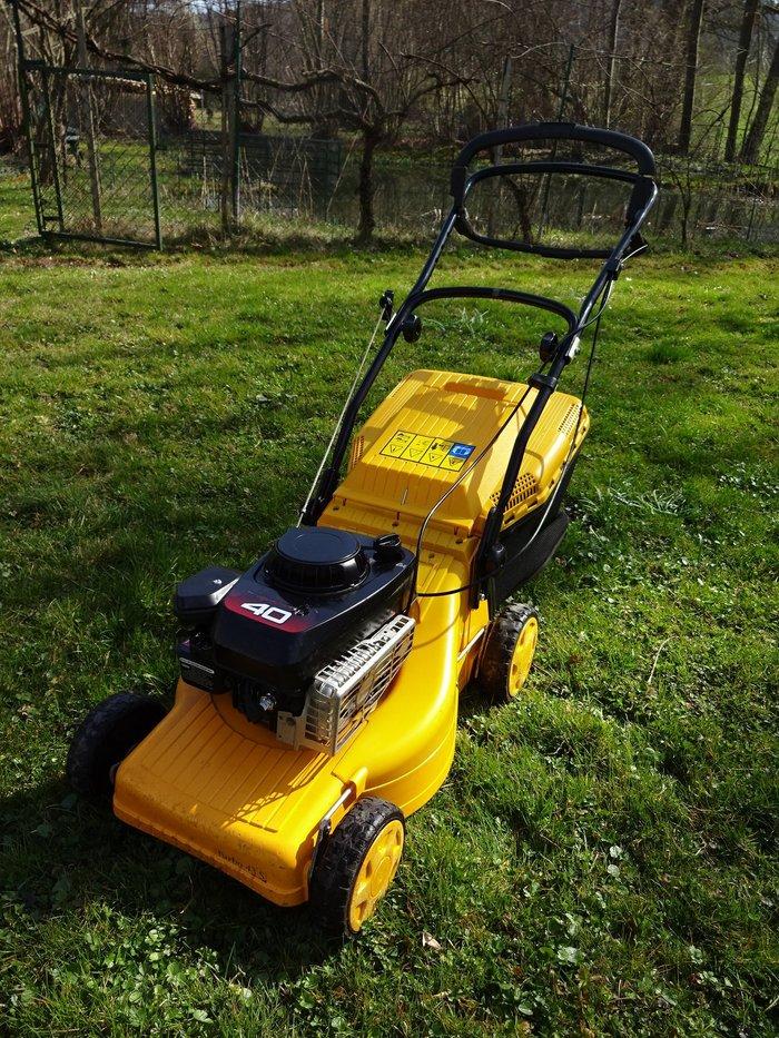 Gebrauchte                                          Rasenmäher:                     Stiga - Turbo 43 S Alu Rasenmäher (gebraucht)
