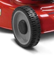 aus extrem belastbarem Verbundwerkstoff gefertigte - mit langlebigen Profi-Kugellagern doppelt kugelgelagerte Räder