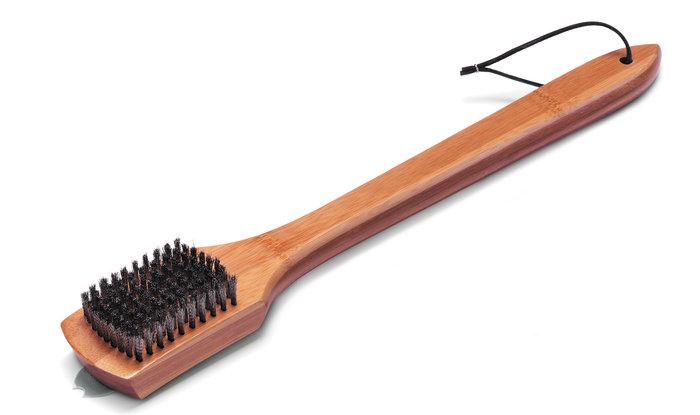 Grillreinigung:                     Weber-Grill - Weber Grillbürste mit Bambus-Holzgriff 46cm (Art.-Nr.:6464)