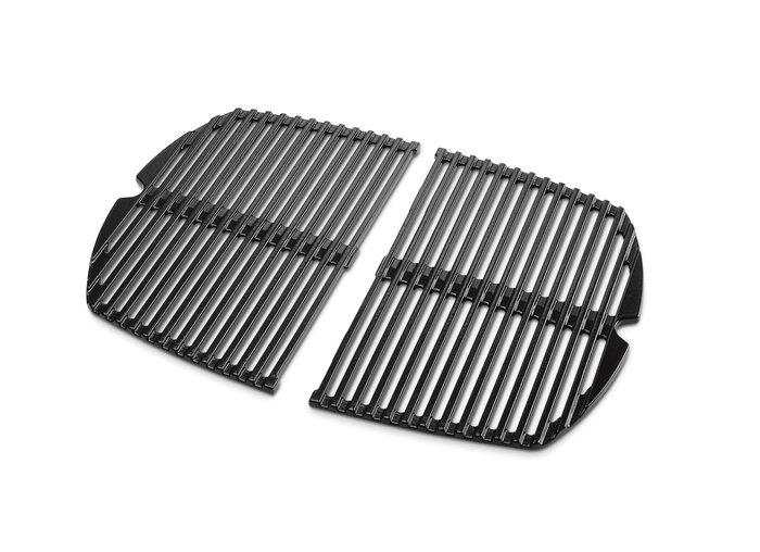 Grillpfannen und -bleche:                     Weber-Grill - Weber Grillrost-Set Weber Q 140-/1400-Serie, gusseisern emailliert, 2-teilig (Art.-Nr.: 69934)