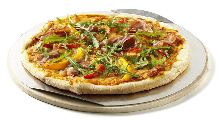 Grillpfannen und -bleche:                     Weber-Grill - Weber Pizzastein, rund 36.5cm (Art.-Nr.: 17058)