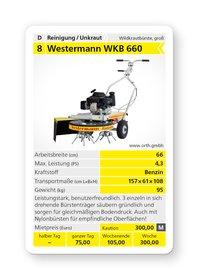 Mieten Wildkrautbürsten: Westermann - WKB 660 Honda (mieten)