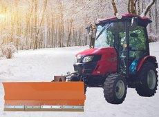 Kompakttraktoren: Tym - Winterdienst Traktor T 393 HST mit Kabine, Räumschild und Streuer