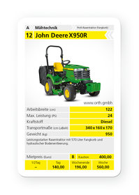 Mieten  Rasentraktoren: John Deere - X950R (mieten)