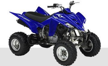 Quads:                     Yamaha - YFM350R-W blau