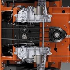 Wartungsfreies Getriebe Sorgenfreies Arbeiten dank wartungsfreiem, integriertem Zero-Turn-Getriebe.