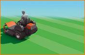 Mähwerk   • Wartungsfreie Spindeln • Robustes 112 cm Stahldeck • Standard-Mulchkit • Mechanische Hubvorrichtung mit Fußbedienung