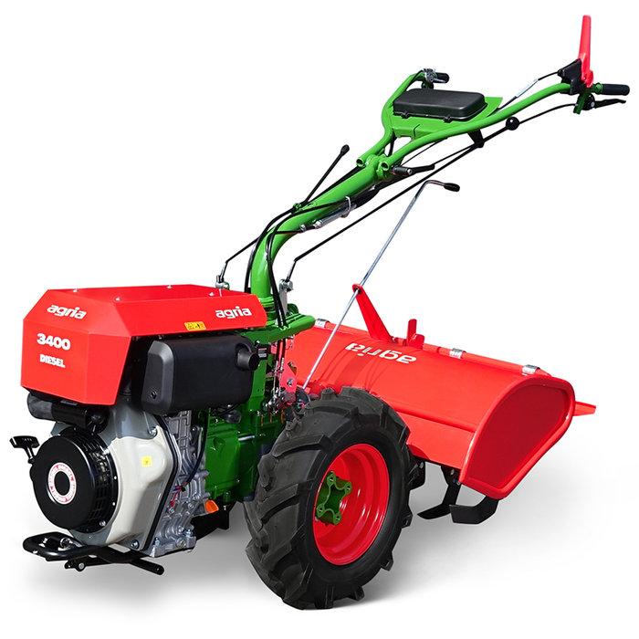 Einachser:                     agria - agria 3400 D E-Start Schnellgang (Grundmaschine ohne Anbaugeräte)