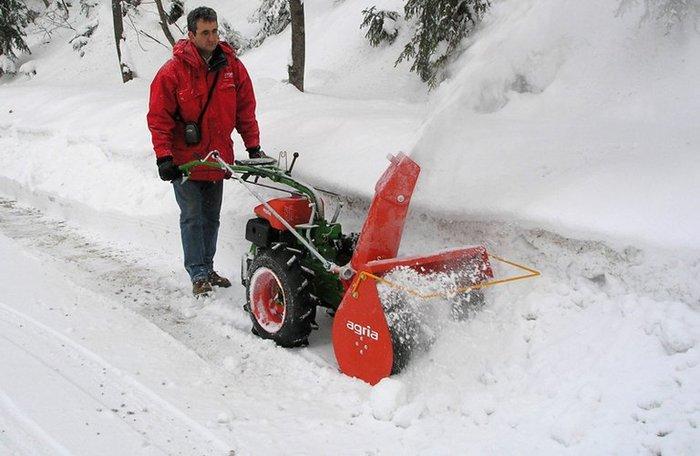agria 3400 mit Schneefräse