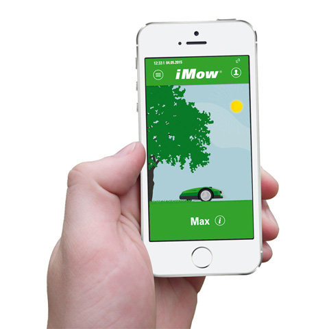 Programmierung mittels App  Viele Einstellungen können Sie außer über das Display auch über die iMow Robotermäher App vornehmen. Die Bedienung ist intuitiv und erfolgt bequem über Smartphone oder Tablet.