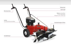 Kehrmaschinen: 4F - Limpar 80 Vario Honda GCV 135 OHC
