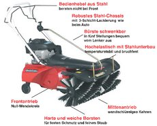 Kehrmaschinen: Tielbürger - tk48 (Briggs & Stratton mit Elektrostarter, Batterie u. Ladegerät)