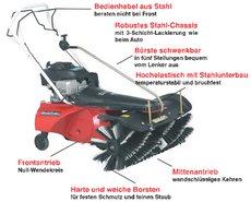 Kehrmaschinen: Tielbürger - tk38 (Briggs & Stratton ReadyStart mit Elektrostarter, Batterie u. Ladegerät)