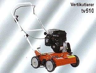 Mieten                                          Vertikutierer:                     Tielbürger - tv510 Honda GX160 (mieten)