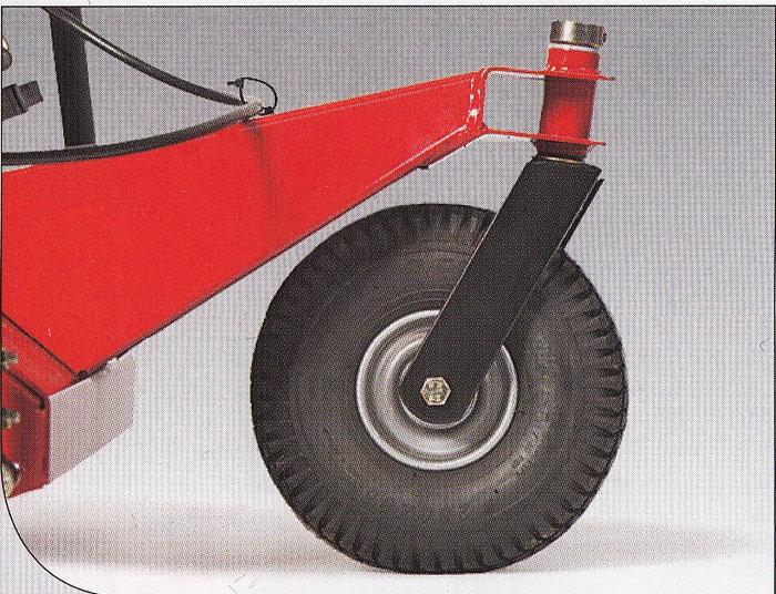 Mitlenkendes Stützrad im Dreirad-Fahrgestell für eine präzise Messeerführung