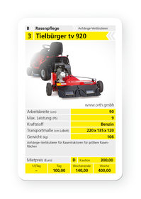 Mieten Anbaugeräte: Tielbürger - tv 920 (mieten)