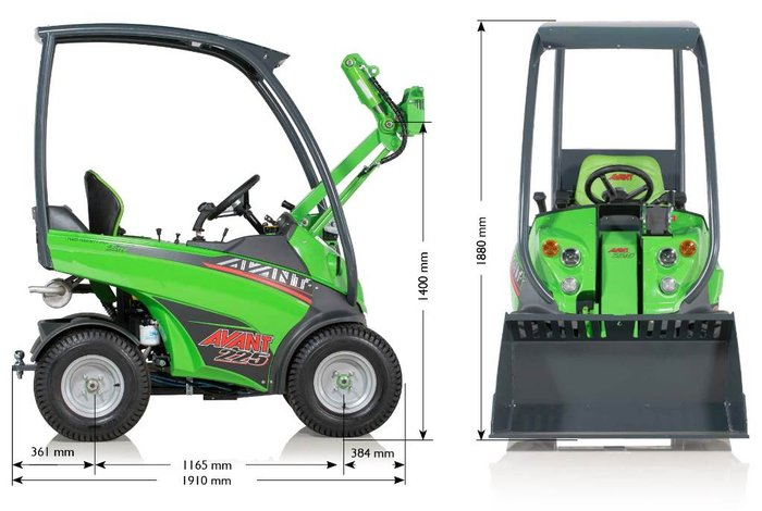 Gebrauchte                                          Allradtraktoren:                     Avant Tecno - vant 225 Ausstellungmaschine 2017 NEU (gebraucht)